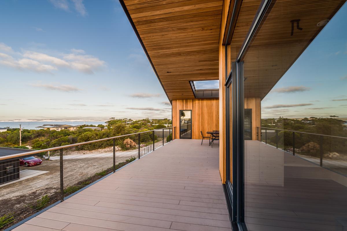 Terasa domu s výhledem na moře