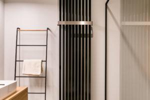 Dizajnový radiátor v koupelně