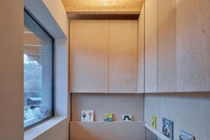Uzká ložnice v japonském stylu