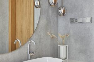 Designová koupelna s umyvadly