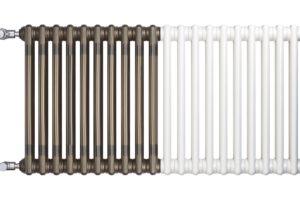 Moderný radiátor na styl retro ukázka