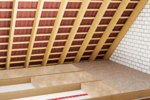 Podlaha v procesu v podkroví