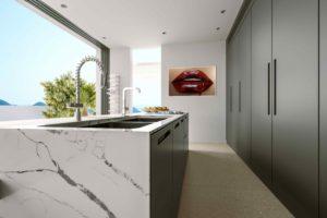 Žulový ostrov v moderní kuchyni