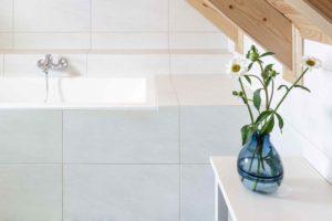 Koupelna s orientální dlažbou