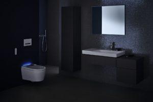 Sprchovací wc s podsvícením