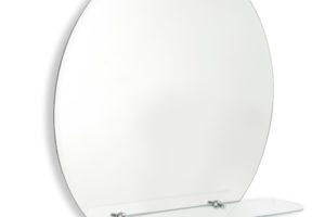 Kulaté zrcadlo s fazetou a s poličkou