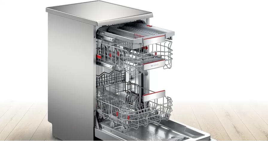 Úzká volně stojící myčka nádobí Bosch SPS6YMI17E