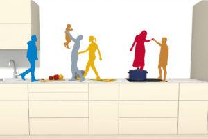 Schéma kuchyň ilustrace